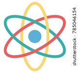 atom colored vector icon   | Shutterstock .eps vector #785046154