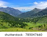 Wide View Of Mountain Valley...