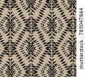 geometric ornament for ceramics ... | Shutterstock .eps vector #785047864