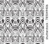 geometric ornament for ceramics ... | Shutterstock .eps vector #785049406