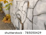 old foundation wall with cracks ... | Shutterstock . vector #785050429