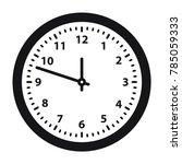 clock vector icon  flat design...   Shutterstock .eps vector #785059333
