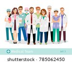 hospital team. medical staff... | Shutterstock . vector #785062450