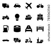 origami style icon set   car... | Shutterstock .eps vector #785063560
