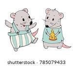illustration of funny cartoon... | Shutterstock .eps vector #785079433
