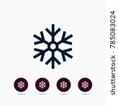 snowflake icon winter simple... | Shutterstock .eps vector #785083024