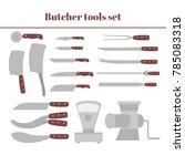 butchery equipment big set.... | Shutterstock .eps vector #785083318