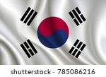 korea flag background | Shutterstock .eps vector #785086216
