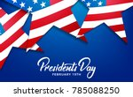 Presidents Day. Banner For Usa...