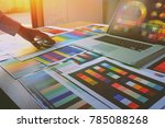 graphic designer at work...   Shutterstock . vector #785088268