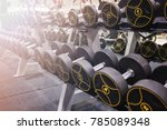 exercise background with many... | Shutterstock . vector #785089348