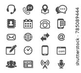 Icons Vector Set Contact Us An...