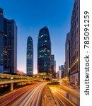 hong kong buildings cityscape... | Shutterstock . vector #785091259