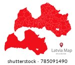 couple set map red map of... | Shutterstock .eps vector #785091490