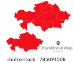 couple set map red map of... | Shutterstock .eps vector #785091508