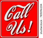 stock illustration   white call ... | Shutterstock . vector #785096104