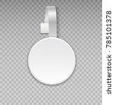 wobbler mockup with transparent ... | Shutterstock . vector #785101378