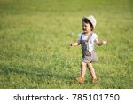 happy little girl playing in... | Shutterstock . vector #785101750
