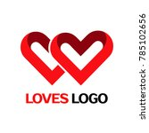 loves logo valentines day loop... | Shutterstock .eps vector #785102656