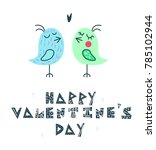 "hand lettering ""happy valentine'... 