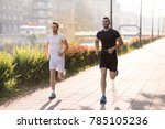 group of young sporty people... | Shutterstock . vector #785105236