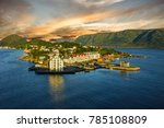 panoramic view on town alesund  ... | Shutterstock . vector #785108809