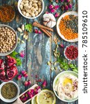 arab ingredients for middle... | Shutterstock . vector #785109610