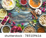 arab ingredients for middle... | Shutterstock . vector #785109616