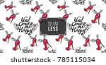 hand drawn graphic flying you... | Shutterstock .eps vector #785115034