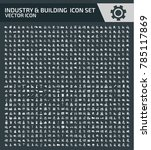 industry and building icon set | Shutterstock .eps vector #785117869