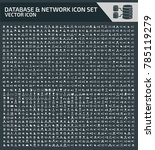 database and network icon set | Shutterstock .eps vector #785119279