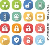 flat vector icon set   nuclear... | Shutterstock .eps vector #785125768