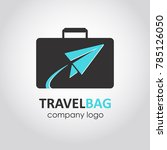 travel suitcase flat style logo.... | Shutterstock .eps vector #785126050