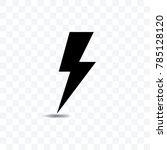 lightning icon silhouette... | Shutterstock .eps vector #785128120