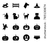 origami style icon set  ... | Shutterstock .eps vector #785130874