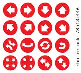 red round arrow pointer icons ...