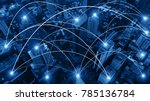 business networking connection... | Shutterstock . vector #785136784