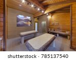 tables in hammam from a small... | Shutterstock . vector #785137540