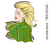 long hair beautiful blond model ... | Shutterstock .eps vector #785139160