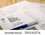 tax reform concept with tax...   Shutterstock . vector #785142376