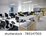 empty open plan office with... | Shutterstock . vector #785147503