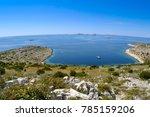 sail boat anchor in the desert bay, Kornati, Croatia