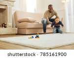 first steps. loving young...   Shutterstock . vector #785161900