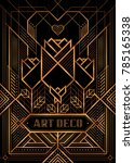 the great gatsby deco style...   Shutterstock .eps vector #785165338