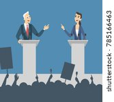 political debates illustration. ... | Shutterstock .eps vector #785166463