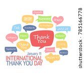 international thank you day.... | Shutterstock .eps vector #785166778