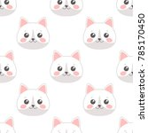 seamless pattern with cartoon... | Shutterstock .eps vector #785170450