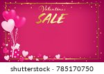 pink board with gold border and ... | Shutterstock .eps vector #785170750