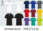polo t shirt sport design... | Shutterstock .eps vector #785171116
