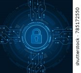 cyber security technology... | Shutterstock .eps vector #785172550
